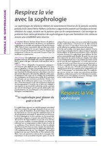 thumbnail of Respirez la vie avec la sophrologie